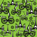 Seamless pattern alternative vehicle Stock Image