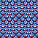 Seamless pattern in american colors, memorial or Independence Day ribbons decor background. Textile pattern. Holiday american flag ribbons bunting decoration royalty free illustration