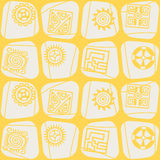 Seamless pattern with American Indians art and ethnic ornaments Royalty Free Stock Photos