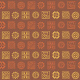 Seamless pattern with American Indians art and ethnic ornaments Stock Photos