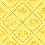 Seamless pattern with American Indians art and ethnic ornaments Royalty Free Stock Image