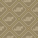 Seamless pattern with American Indians art and ethnic ornaments Stock Photography