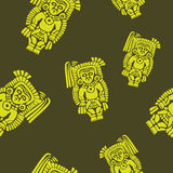 Seamless pattern with American Indians art and ethnic ornaments Royalty Free Stock Images