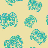 Seamless pattern with American Indians art and ethnic ornaments Stock Photo