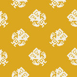Seamless pattern with American Indians art and ethnic ornaments Royalty Free Stock Photo