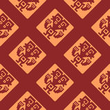 Seamless pattern with American Indians art and ethnic ornaments Royalty Free Stock Photography