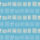 Seamless pattern with American Indians relics dingbats characters Stock Photography