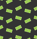 Seamless Pattern with American Money Dollars Bank Notes Royalty Free Stock Photo