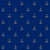 Seamless Pattern with Anchor Stock Photography