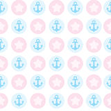 Seamless pattern with anchor. Texture for clothes. Design element for wallpapers, baby shower invitation, birthday card, scrapbooking, fabric print Stock Photos