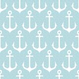 Seamless pattern with anchors. Royalty Free Stock Image