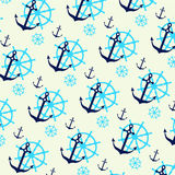Seamless pattern with anchors. Seamless pattern can be used for wallpaper, pattern fills, web page background, surface textures Stock Illustration