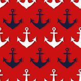Seamless pattern with anchors vector illustration