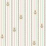 Seamless pattern with anchors. Nautical elements stock illustration