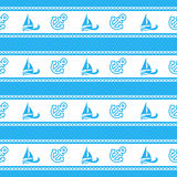 Seamless pattern with anchors. Ongoing backgrounds of marine theme. Royalty Free Stock Photo