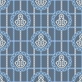 Seamless pattern with anchors. Ongoing backgrounds of marine theme. Royalty Free Stock Image