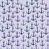 Seamless pattern of anchors Royalty Free Stock Photo