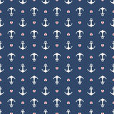 Seamless pattern with anchors Stock Image