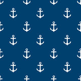 Seamless pattern with anchors. Vector illustration. Royalty Free Stock Photography