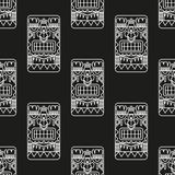 Seamless pattern ancient American ornaments Royalty Free Stock Image