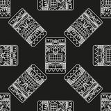 Seamless pattern ancient American ornaments Royalty Free Stock Images