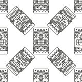 Seamless pattern ancient American ornaments. Seamless pattern illustration with ancient American ornaments Royalty Free Stock Photos