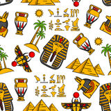 Seamless pattern of ancient egyptian ornaments Royalty Free Stock Images