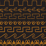 Seamless pattern with ancient greek ornaments Stock Photo