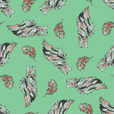Seamless pattern with angel wings. Royalty Free Stock Images