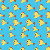 Seamless pattern with Angler fish. Vector Seamless pattern with Angler fish or monkfish Royalty Free Stock Images