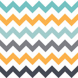 Seamless pattern with angles. It consists of the same elements of different colors. The yellow, white, blue and gray Stock Image
