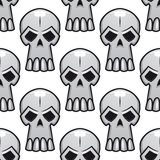 Seamless pattern of angry stylized skulls Royalty Free Stock Images