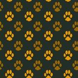 Seamless pattern with animal footprint texture Stock Photo