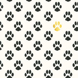 Seamless pattern with animal footprint texture Royalty Free Stock Photos
