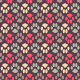 Seamless pattern with animal footprint texture Stock Images