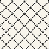 Seamless pattern - animal paw and bone Royalty Free Stock Image