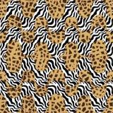 Tiger print waves. Seamless  pattern with animal skin textures. Safari textile collection Royalty Free Stock Photo