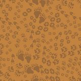 Seamless pattern of animal trails Royalty Free Stock Photo