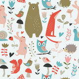 Seamless pattern with animals Royalty Free Stock Images
