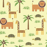 Seamless pattern with animals. Pattern for children. Seamless pattern with african animals Stock Image