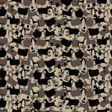 Seamless pattern with animals. Seamless pattern with the contours of the pet Royalty Free Stock Images