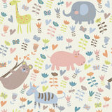 Seamless pattern with animals Royalty Free Stock Photography