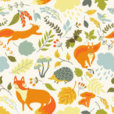 Seamless pattern with animals. Stock Photo
