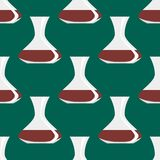 Seamless pattern with antique vases background decorative pot design classic  Royalty Free Stock Photos