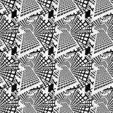 Seamless pattern with apartment buildings Royalty Free Stock Images