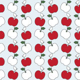 Seamless pattern of apple background Stock Images