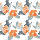 Seamless pattern with apple blossom. Round kaleidoscope of flowers and floral elements Royalty Free Stock Photography