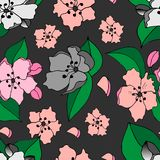 Seamless pattern of Apple blossoms royalty free illustration