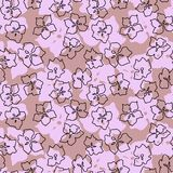 Seamless Pattern with Apple Cherry Blooming Flowers in pink colo. Seamless Pattern with Apple Cherry Blooming Flowers . Very light beautiful colors and spring Stock Images
