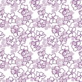 Seamless Pattern with Apple Cherry Blooming Flowers in pink colo. Seamless Pattern with Apple Cherry Blooming Flowers . Very light beautiful colors and spring Stock Image